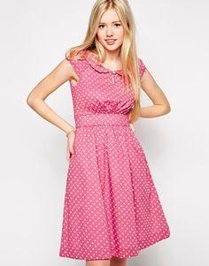 Emily & Fin Polka Dot Dress with Full Skirt