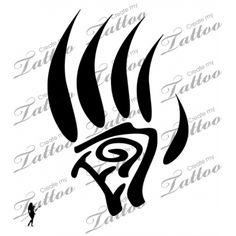 Marketplace Tattoo Tribal Bear Claw #4650 | CreateMyTattoo.com
