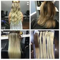 Before & After SHE Hair Extensions by SOCAP Adding volume, body, length and color Hair by Jeffery #hairextensions #shehairextensions #fashion #longhair #hairstyle #hairstylists #sexy