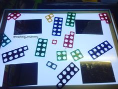 Mirrors and numicon on the light table to encourage doubling. The children wrote down their answers in many different ways. I love to see how they record. Doubling And Halving, Maths Eyfs, Early Years Teacher, Numicon, Light Panel, Lightbox, Kids Writing, Mathematics, Light In The Dark