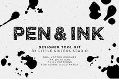 NEW! Pen & Ink by Little Sisters Studio on Creative Market