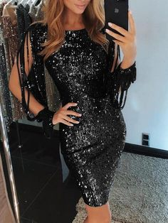 Ruiyige 2019 New Spring Sexy V Neck High Slit Party Dress Women Glitter Bodycon Midi Tunic Dresses Long Sleeve Ladies Vestidos Trend Fashion, Fashion Outfits, Elegant Midi Dresses, New Years Eve Outfits, Sequin Party Dress, Glitter Dress, Party Dresses For Women, Wedding Dresses, Buy Dress