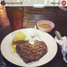 "7 Spices Rib Eye Steak RM24.90  #iRepost @faridazfar.89 with @irepostapp: ""bon appetit!! #RibEyeSteak #Foodilicious #ShahAlam #FoodPorn #FoodLover"" #Repost #RT"