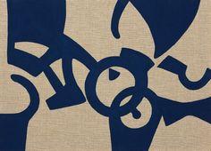 Carla Accardi - Prussian Blue - Acrylic on raw canvas - cm.  50,2x70
