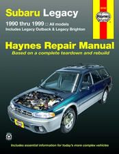 Subaru Legacy Repair Manual covering all 1990 thru 1999 Legacy models including Outback and Brighton