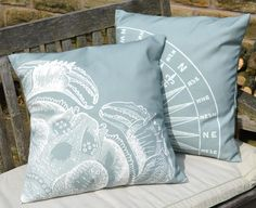Coastal Crab cushion designed exclusively for Coastal Home.