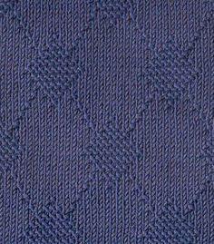Large Texture Argyle Free Knitting Stitch. Argyle pattern knitting stitch using knit and purl stitches.