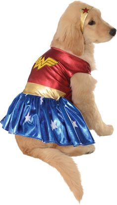 wonder woman deluxe dog costume - large                                                                                                                                                                                 Más