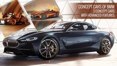 Top 3 Concept Cars from #BMW having advanced features and stunning exterior. For more, visit our blog.