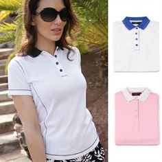 2013 Glenmuir Ladies Lexi Performance Golf Polo Shirt Converstitch Top.