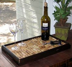 shadow box tray.. I think I may do a bar top like this one day