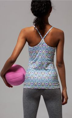 be ready for beach volleyball with your besties.   Tumblin' Tank*luxtreme