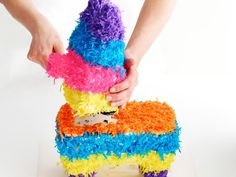 Follow Food Network Magazine's step-by-step directions to make your own pinata cake.