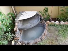 Homemade Simple Concrete-Stone Small Fountain! - YouTube