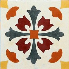 Hydraulic Tile Adhesive 20 x Stencil Patterns, Stencil Designs, Tile Patterns, Print Patterns, Stencil Painting, Fabric Painting, Victorian Tiles, Clay Tiles, Tile Art