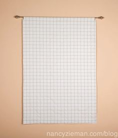 Nancy Zieman sells this gridded flannel.  Isn't this wonderful for designing quilts.  This is from her blog.