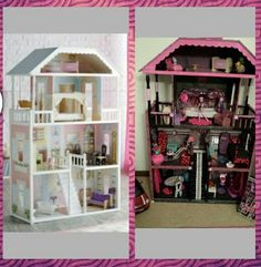 I re - did my daughters plain doll house and turned it into a monster high doll house. She absolutely loved it.
