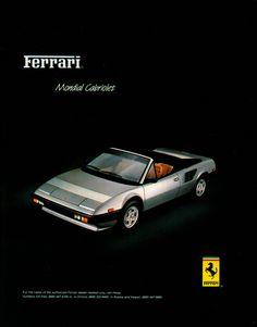 1984 Ad Ferrari Mondial Cabriolet - LGMSports.com