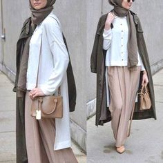 palazzo pants hijab outfit- Latest hijab trends http://www.justtrendygirls.com/latest-hijab-trends/
