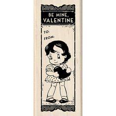 Vintage Type Valentine Stamp    NEW   Wood Mounted by sagebrush12, $6.00  SOLD!