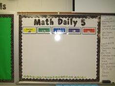 math Daily 5, Bulletin Board -letters from Really good stuff