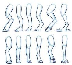 how to art: animal legs~ Body Reference Drawing, Art Reference Poses, Drawing Techniques, Drawing Tips, Art Drawings Sketches, Animal Drawings, Body Drawing Tutorial, Mythical Creatures Art, Art Inspiration Drawing