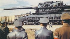 Schwerer Gustav (English: Heavy Gustaf, or Great Gustaf) and Dora were two German 80 cm K (E) ultra-heavy railway guns. Developed in the late 1930s by Krupp as siege artillery for destroying the main forts of the French Maginot Line, the strongest fortifications then in existence. The twin guns weighed nearly 1,350 tonnes, and could fire shells weighing seven tonnes to a range of 47 kilometres (29 mi).