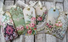 DIY:: So Simple Vintage wallpaper gift tags!!! I use them as ornaments as well !!