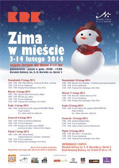 Zapraszamy dzieciaki w wieku 7-11 lat do Norwida na akcję Zima w mieście. 3-14 lutego, godz. 10.00-14.00.  Szczegóły pod linkiem: http://www.okn.edu.pl/index.php?option=com_content&view=article&id=1894:zima-w-miecie-2014&catid=154:zima-w-miecie&Itemid=274