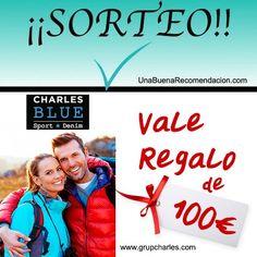 Sorteo Vale Regalo 100€ tienda online GrupCharles
