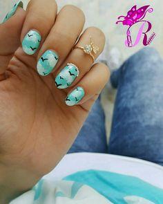 هذه #أظافر اليوم  Another look at my Sky Nails using Yves Morel #113 matching my OOTD