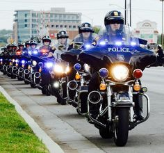 Fort Worth police motorcycle units lined up