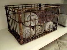Vintage Borden Milk Crate by ShopTenTwenty on Etsy Metal Milk Crates, Plastic Crates, Vintage Crates, Vintage Metal, Wire Crate, Ranch Decor, Paint Storage, Crate Shelves, Primitive Gatherings
