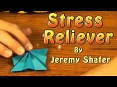 Origami Stress Reliever by Jeremy Shafer - YouTube