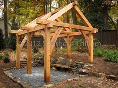 Timber-framed outdoor structure