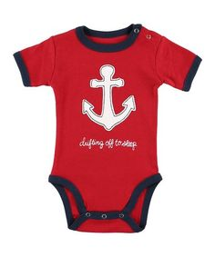 Loving this Red 'Drifting Off to Sleep' Bodysuit - Infant on #zulily! #zulilyfinds