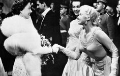 peter townsend and princess margaret   Queen Elizabeth II welcomes actress Jayne Mansfield during the Royal ...