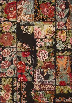 Originele #handgemaakte rozen #Kelim #tapijt