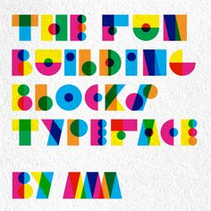 Using vibrant colours and opacity overlay adds another level of meaning and interpretation to this modular font.