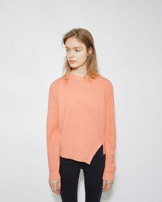 Proenza Schouler | Side Slit Cashmere Blend Sweater | La Garçonne