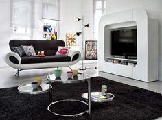 nice Décoration Vintage  - Le noir et le blanc s'invitent au salon