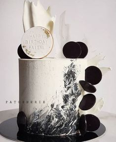 Birthday Cakes For Men, Beautiful Birthday Cakes, Beautiful Cake Designs, Beautiful Cakes, Amazing Cakes, Brithday Cake, Single Tier Cake, Cake Decorating Techniques, Novelty Cakes