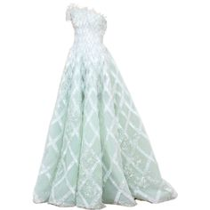 satinee.polyvore.com - Rami Al Ali 2014 ❤ liked on Polyvore featuring dresses, gowns, long dresses, satinee, green dress, green gown, henley dress, green evening dress e women dresses