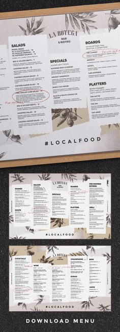 Food and drinks menu. Good for cafe, restaurant, tavern or bar. Food and drinks menu. Good for cafe, restaurant, tavern or bar. Restaurant Layout, Restaurant Branding, Restaurant Design, Cafe Restaurant, Cafe Branding, Layout Design, Café Design, Design Table, Food Design