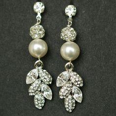 Vintage Wedding Bridal Earrings Vintage Bridal by luxedeluxe, $54.00
