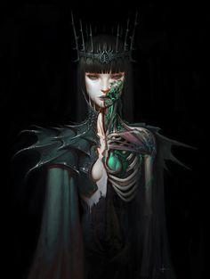 Lich Queen by AdrianDadich on deviantART