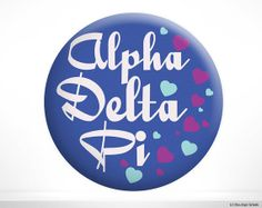 ADPi Alpha Delta Pi Hearts Sorority Button by BoutiqueGreek