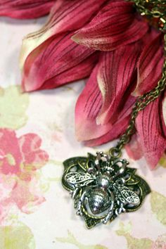Queen Bee Fairy Tale Charm Necklace Botanical by TwilightShades, $12.50