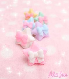 Handmade Pastel Candy Star Rings by Alice Dear Arts! If you have a custom color in mind, get them here! https://www.etsy.com/shop/AliceDearArts