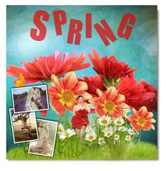"""""""Spring has Sprung"""" by lehman112 ❤ liked on Polyvore featuring art"""